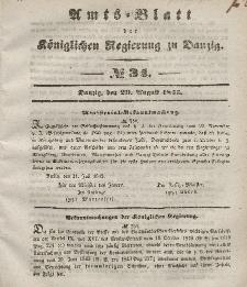 Amts-Blatt der Königlichen Regierung zu Danzig, 20. August 1845, Nr. 34