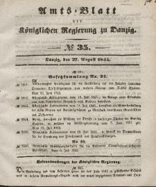 Amts-Blatt der Königlichen Regierung zu Danzig, 27. August 1845, Nr. 35