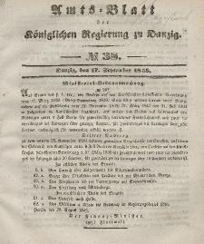 Amts-Blatt der Königlichen Regierung zu Danzig, 17. September 1845, Nr. 38