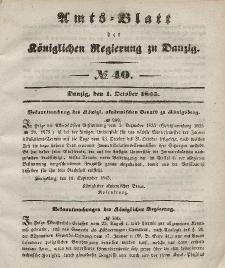 Amts-Blatt der Königlichen Regierung zu Danzig, 1. Oktober 1845, Nr. 40
