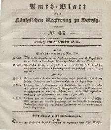 Amts-Blatt der Königlichen Regierung zu Danzig, 8. Oktober 1845, Nr. 41