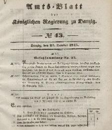 Amts-Blatt der Königlichen Regierung zu Danzig, 22. Oktober 1845, Nr. 43
