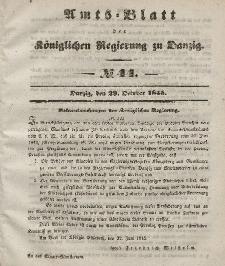 Amts-Blatt der Königlichen Regierung zu Danzig, 29. Oktober 1845, Nr. 44