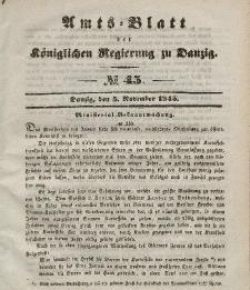 Amts-Blatt der Königlichen Regierung zu Danzig, 5. November 1845, Nr. 45