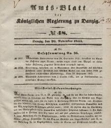 Amts-Blatt der Königlichen Regierung zu Danzig, 26. November 1845, Nr. 48