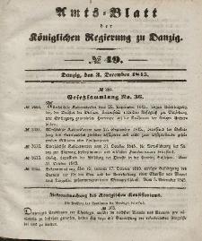 Amts-Blatt der Königlichen Regierung zu Danzig, 3. Dezember 1845, Nr. 49