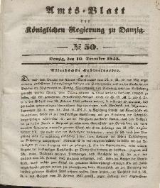 Amts-Blatt der Königlichen Regierung zu Danzig, 10. Dezember 1845, Nr. 50