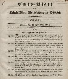 Amts-Blatt der Königlichen Regierung zu Danzig, 17. Dezember 1845, Nr. 51