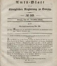 Amts-Blatt der Königlichen Regierung zu Danzig, 24. Dezember 1845, Nr. 52