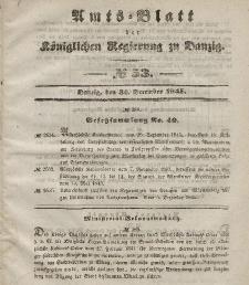 Amts-Blatt der Königlichen Regierung zu Danzig, 31. Dezember 1845, Nr. 53