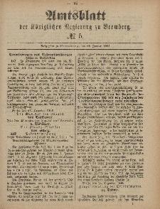Amtsblatt der Königlichen Preußischen Regierung zu Bromberg, 29. Januar 1886, Nr. 5