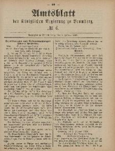 Amtsblatt der Königlichen Preußischen Regierung zu Bromberg, 5. Februar 1886, Nr. 6