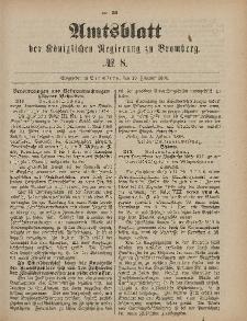 Amtsblatt der Königlichen Preußischen Regierung zu Bromberg, 19. Februar 1886, Nr. 8
