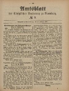 Amtsblatt der Königlichen Preußischen Regierung zu Bromberg, 26. Februar 1886, Nr. 9