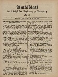 Amtsblatt der Königlichen Preußischen Regierung zu Bromberg, 12. März 1886, Nr. 11