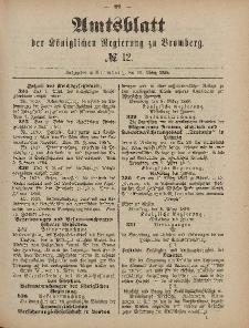Amtsblatt der Königlichen Preußischen Regierung zu Bromberg, 19. März 1886, Nr. 12
