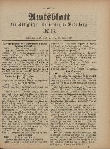 Amtsblatt der Königlichen Preußischen Regierung zu Bromberg, 26. März 1886, Nr. 13