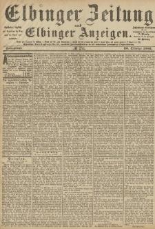 Elbinger Zeitung und Elbinger Anzeigen, Nr. 254 Sonnabend 30. Oktober 1886