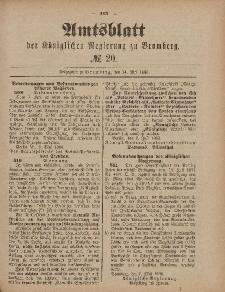 Amtsblatt der Königlichen Preußischen Regierung zu Bromberg, 14. Mai 1886, Nr. 20