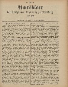 Amtsblatt der Königlichen Preußischen Regierung zu Bromberg, 28. Mai 1886, Nr. 22