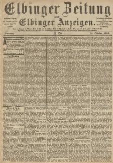 Elbinger Zeitung und Elbinger Anzeigen, Nr. 255 Sonntag 31. Oktober 1886
