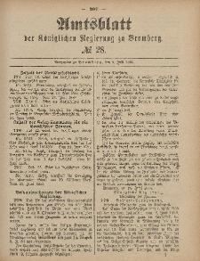 Amtsblatt der Königlichen Preußischen Regierung zu Bromberg, 9. Juli 1886, Nr. 28