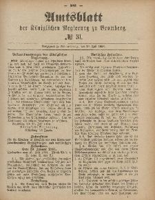 Amtsblatt der Königlichen Preußischen Regierung zu Bromberg, 30. Juli 1886, Nr. 31
