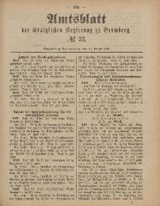 Amtsblatt der Königlichen Preußischen Regierung zu Bromberg, 13. August 1886, Nr. 33