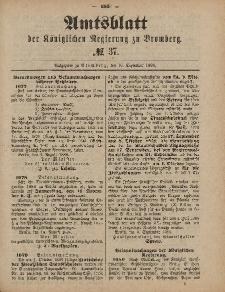 Amtsblatt der Königlichen Preußischen Regierung zu Bromberg, 10. September 1886, Nr. 37