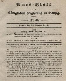 Amts-Blatt der Königlichen Regierung zu Danzig, 24. Januar 1844, Nr. 4