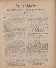 Amtsblatt der Königlichen Preußischen Regierung zu Bromberg, 16. Januar 1885, Nr. 3