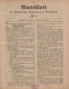 Amtsblatt der Königlichen Preußischen Regierung zu Bromberg, 23. Januar 1885, Nr. 4