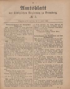 Amtsblatt der Königlichen Preußischen Regierung zu Bromberg, 30. Januar 1885, Nr. 5