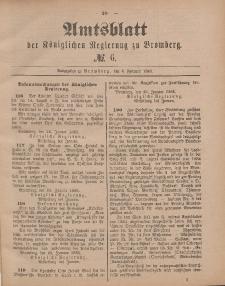 Amtsblatt der Königlichen Preußischen Regierung zu Bromberg, 6. Februar 1885, Nr. 6