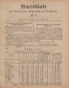 Amtsblatt der Königlichen Preußischen Regierung zu Bromberg, 20. Februar 1885, Nr. 8