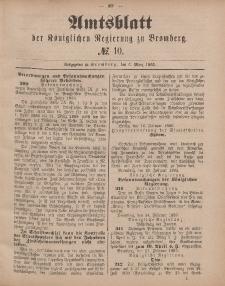 Amtsblatt der Königlichen Preußischen Regierung zu Bromberg, 6. März 1885, Nr. 10