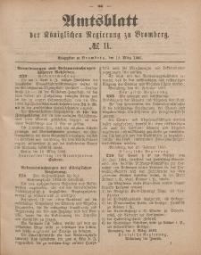 Amtsblatt der Königlichen Preußischen Regierung zu Bromberg, 13. März 1885, Nr. 11