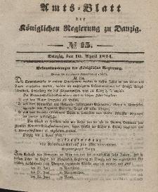 Amts-Blatt der Königlichen Regierung zu Danzig, 10. April 1844, Nr. 15