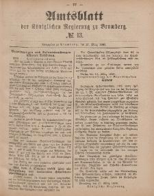 Amtsblatt der Königlichen Preußischen Regierung zu Bromberg, 27. März 1885, Nr. 13