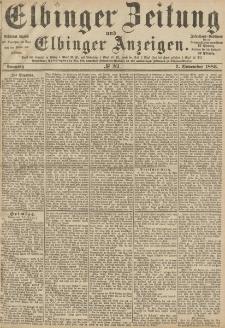 Elbinger Zeitung und Elbinger Anzeigen, Nr. 261 Sonntag 7. November 1886
