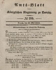 Amts-Blatt der Königlichen Regierung zu Danzig, 15. Mai 1844, Nr. 20
