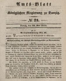 Amts-Blatt der Königlichen Regierung zu Danzig, 22. Mai 1844, Nr. 21