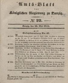 Amts-Blatt der Königlichen Regierung zu Danzig, 29. Mai 1844, Nr. 22