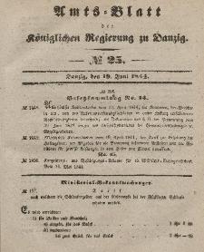 Amts-Blatt der Königlichen Regierung zu Danzig, 19. Juni 1844, Nr. 25