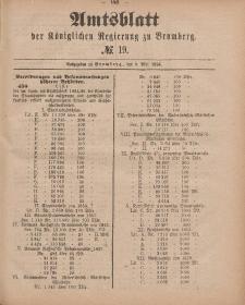 Amtsblatt der Königlichen Preußischen Regierung zu Bromberg, 9. Mai 1885, Nr. 19