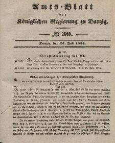 Amts-Blatt der Königlichen Regierung zu Danzig, 24. Juli 1844, Nr. 30