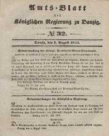 Amts-Blatt der Königlichen Regierung zu Danzig, 7. August 1844, Nr. 32