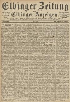 Elbinger Zeitung und Elbinger Anzeigen, Nr. 263 Mittwoch 10. November 1886