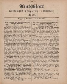 Amtsblatt der Königlichen Preußischen Regierung zu Bromberg, 15. Mai 1885, Nr. 20