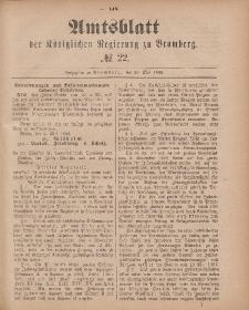 Amtsblatt der Königlichen Preußischen Regierung zu Bromberg, 29. Mai 1885, Nr. 22